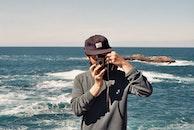 sea, man, camera