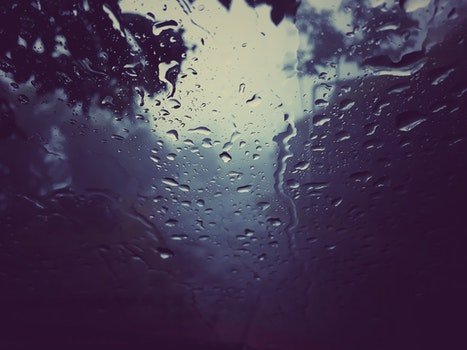 Free stock photo of water, glass, blur, rain