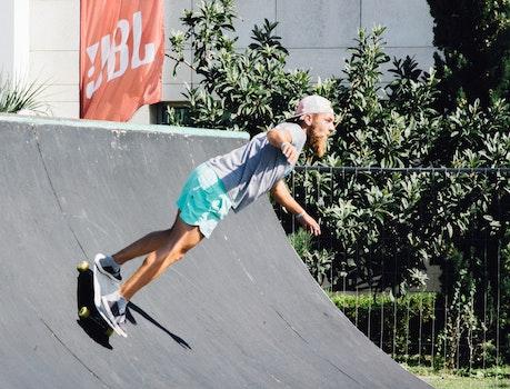 Man Making Stunt With Skateboard