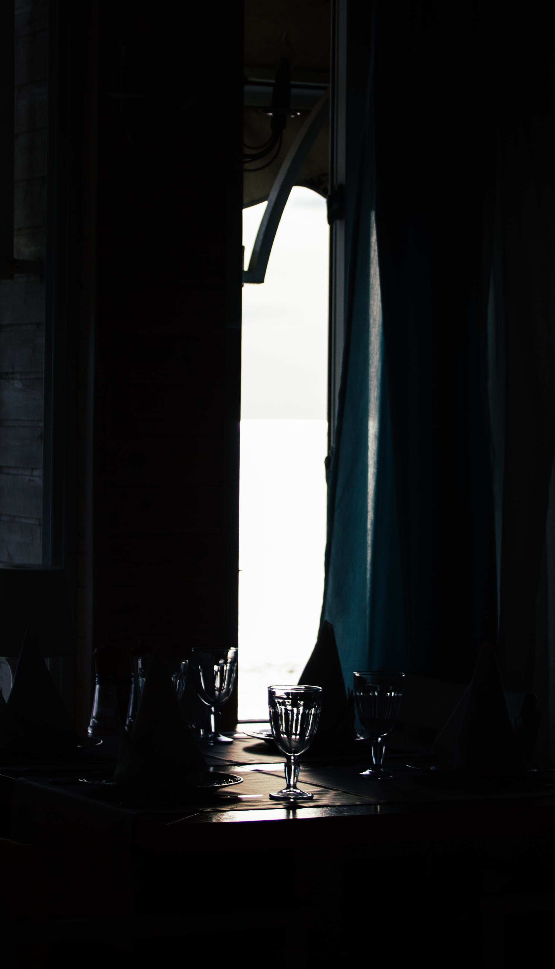 Free stock photo of light, dark, silhouette, table