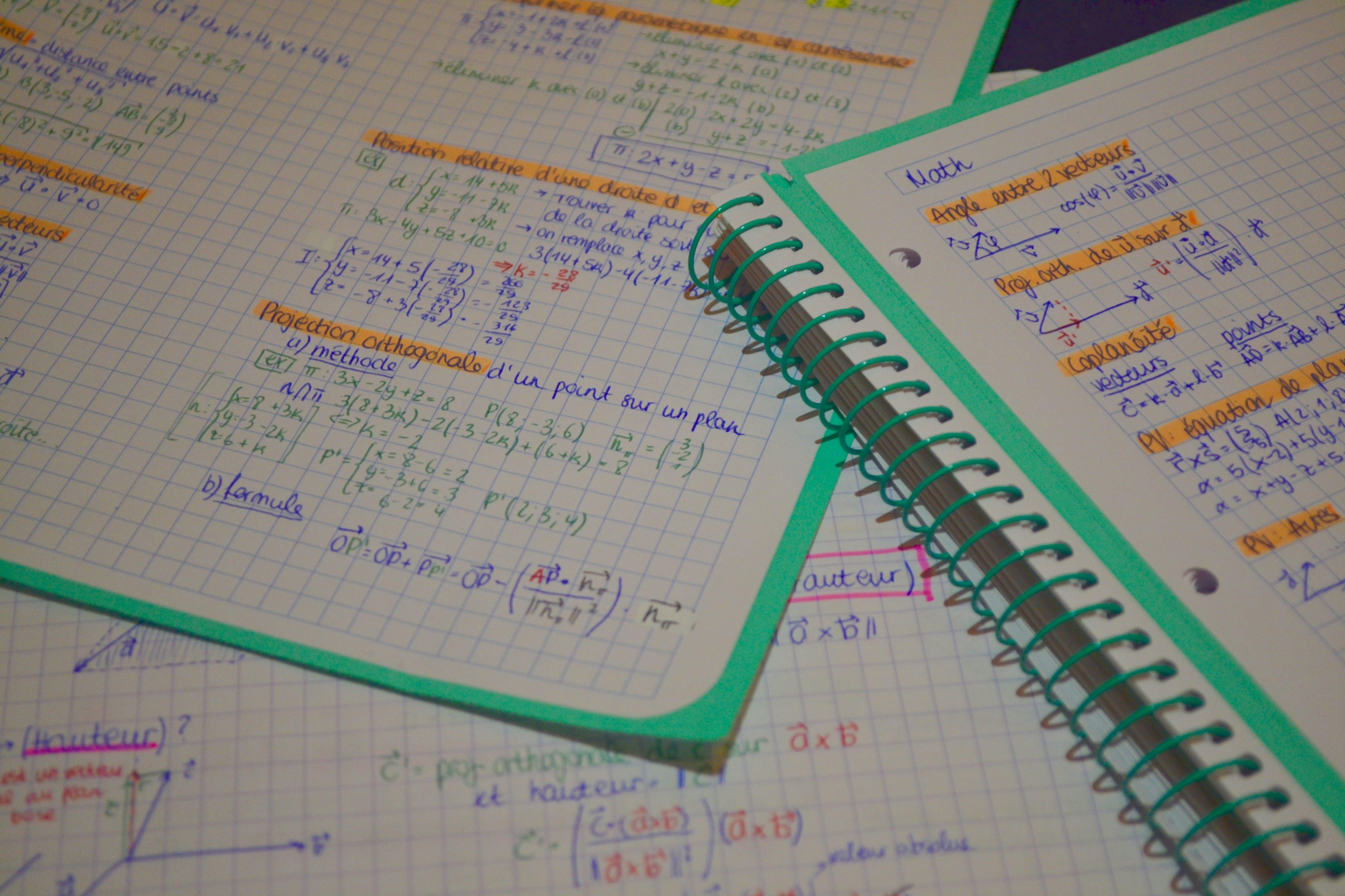 Free stock photo of school, math, study