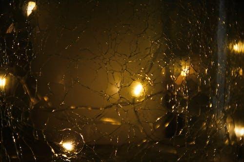 模糊, 漆黑, 燈光, 玻璃 的 免费素材照片