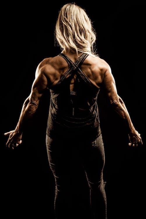 achteraanzicht, atleet, bodybuilden