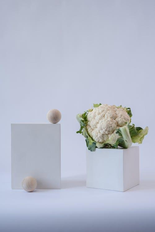 White Cauliflower in White Ceramic Bowl