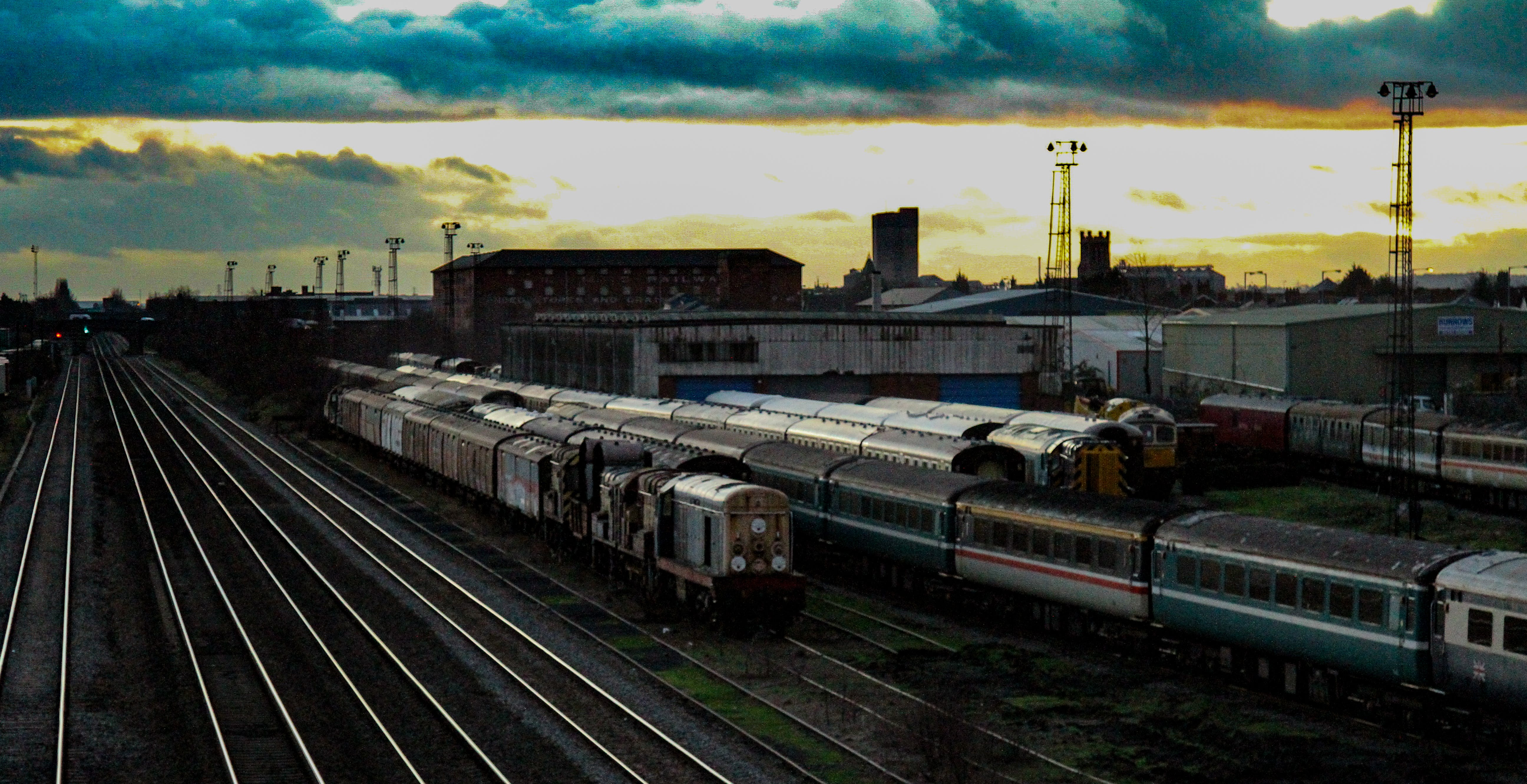 Free stock photo of sky, clouds, trains, tracks
