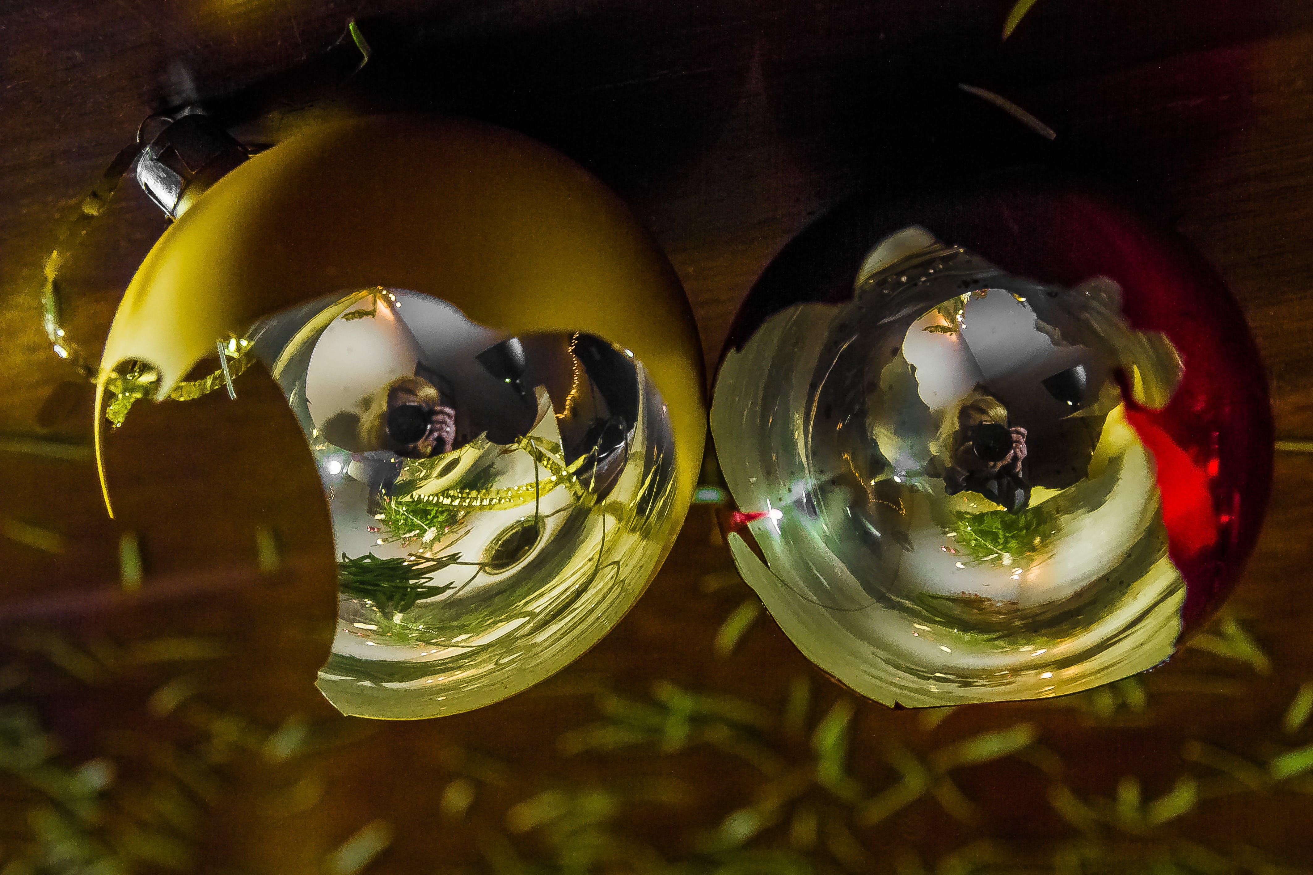 Free stock photo of christmas balls, christmas tree, light, needles
