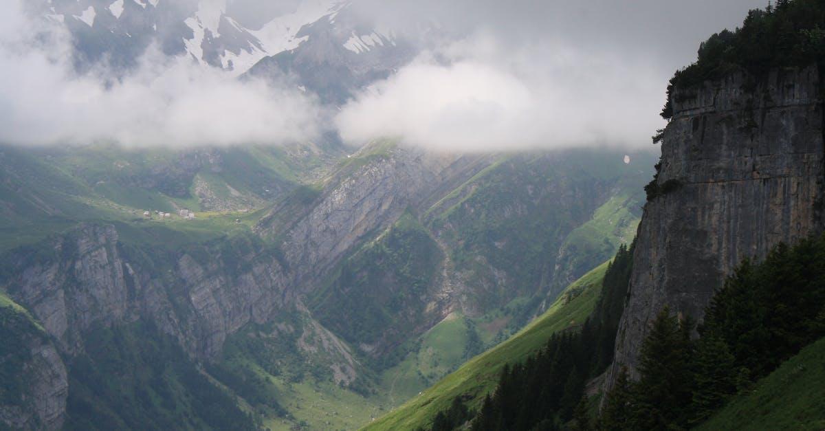 Bird's Eye View of Foggy Landscape · Free Stock Photo