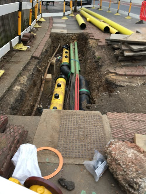 Free stock photo of gas installation, gas work, Road work