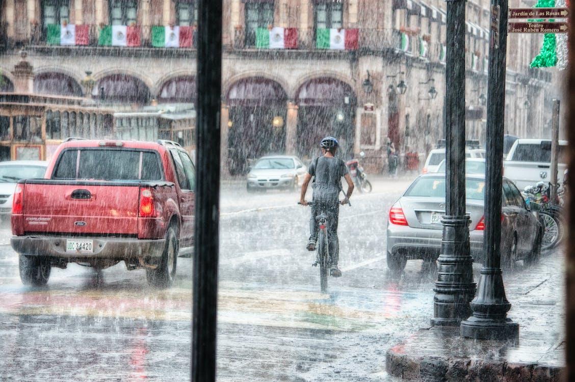 автомобили, бедствие, буря