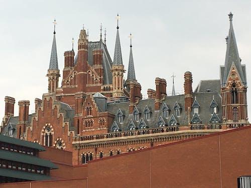 Free stock photo of renaissance building, St Pancras Hotel, Station Hotel