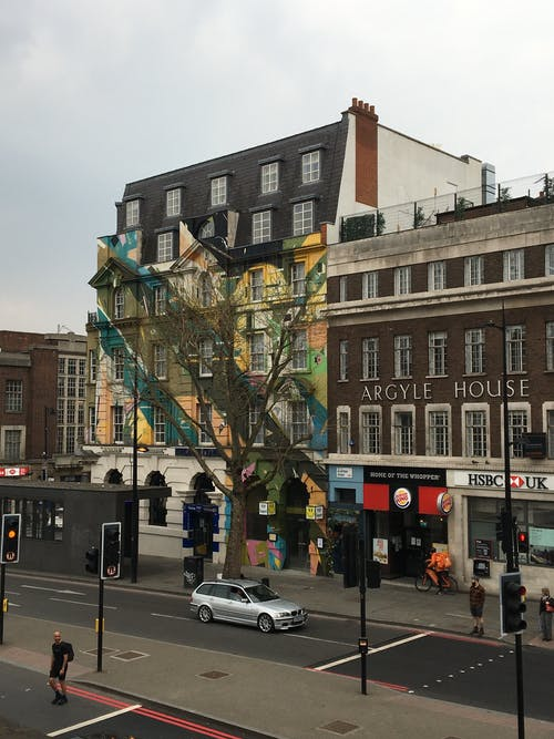 Free stock photo of Decorated Building, kings cross