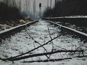 cold, snow, road