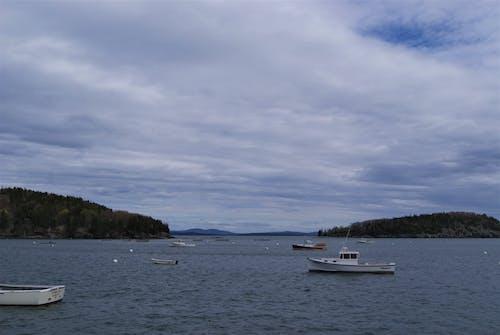 Free stock photo of atlantic ocean, blue ocean, boat