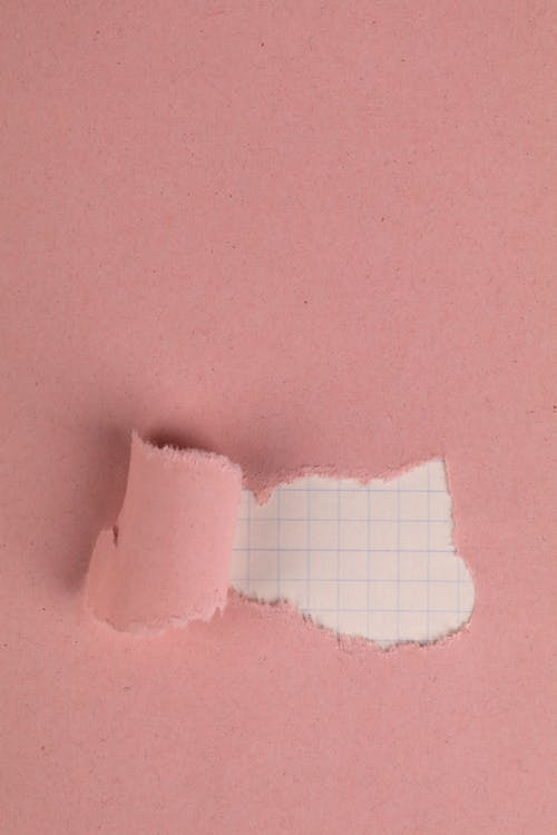 Free stock photo of checkered paper, pastel pink, ripped paper