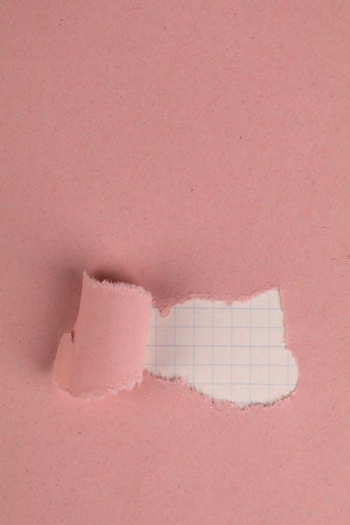 Fotobanka sbezplatnými fotkami na tému kockovaný papier, pastelové ružové, roztrhaný papier