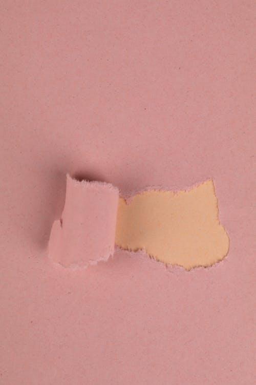 Fotobanka sbezplatnými fotkami na tému pastelové ružové, roztrhaný papier, roztrhnutý papier