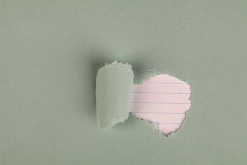 Fotobanka sbezplatnými fotkami na tému lemovaný papier, pastelovo zelená, roztrhaný papier