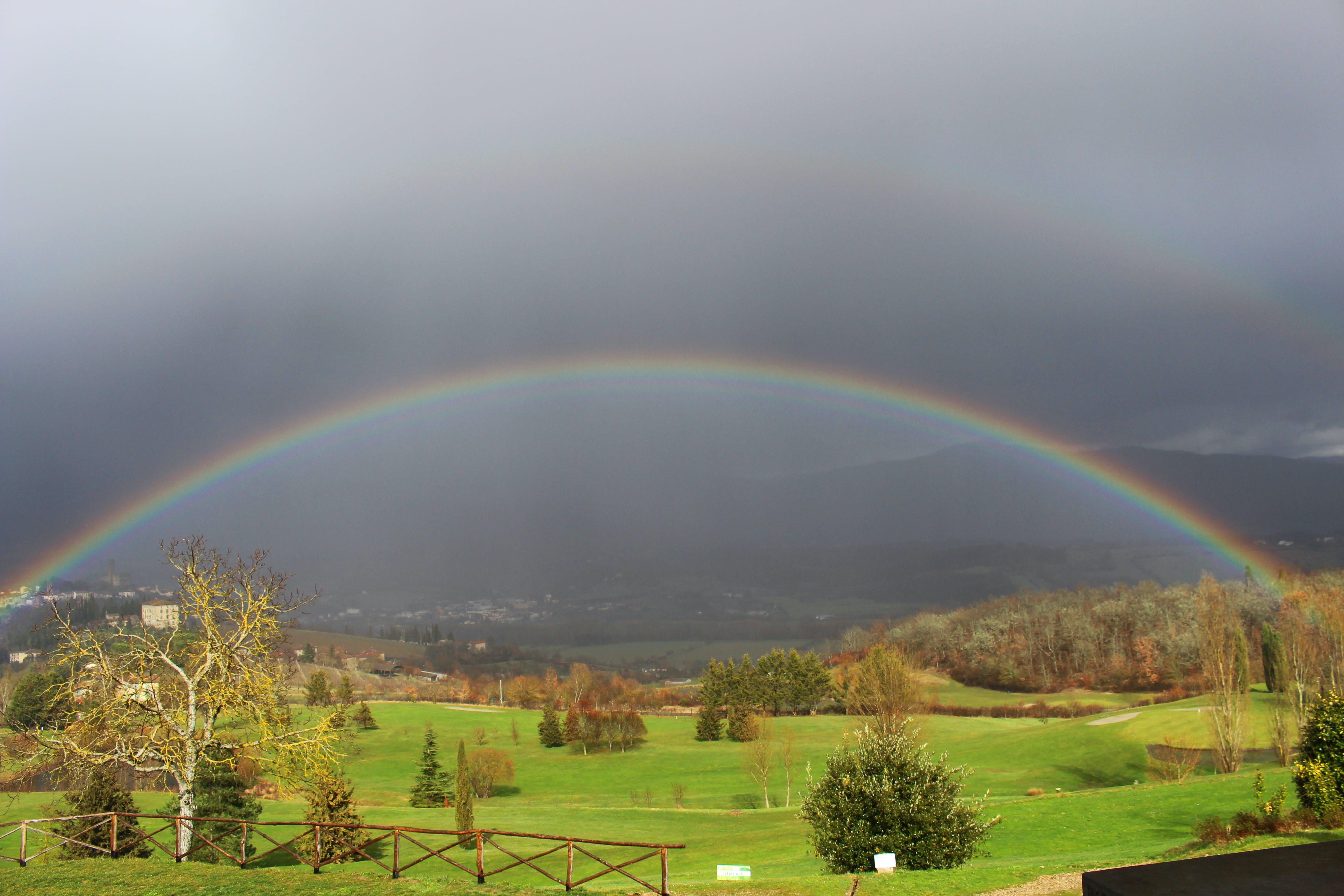 Free stock photo of big rainbow, casentino, colors, green