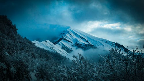 Scenic View of Snowy Mountain