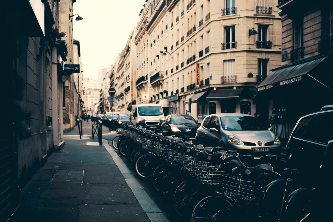 bánh xe, các tòa nhà, đậu