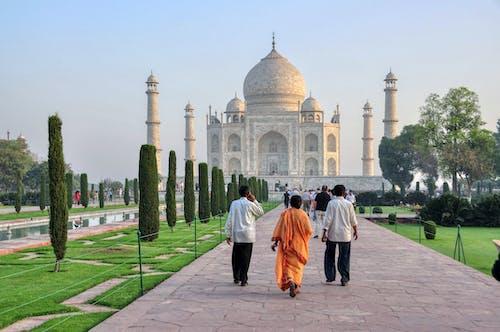 People Walking Towads to Taj Mahal