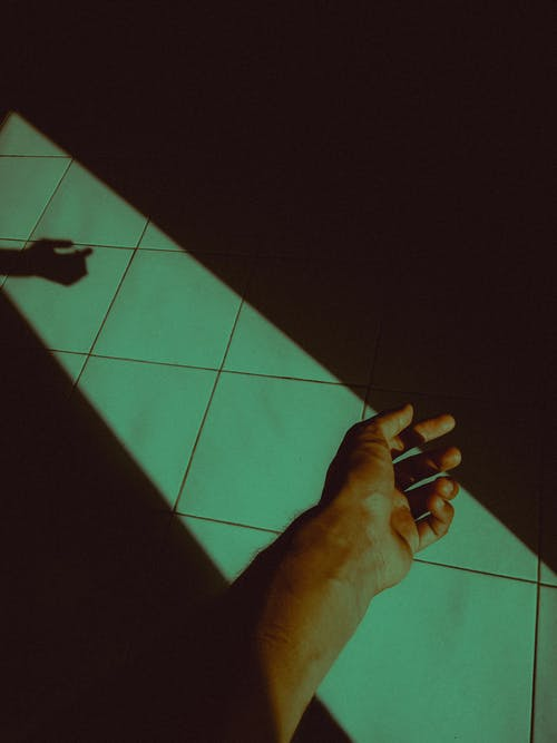 Free stock photo of hand, minimal, shadow