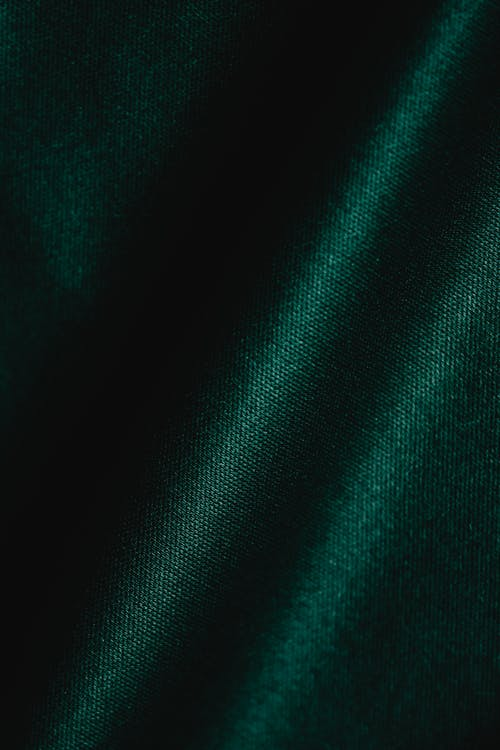 Green Textile in Close Up Image