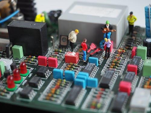 Foto profissional grátis de brinquedos em miniatura, fechar-se, figuras