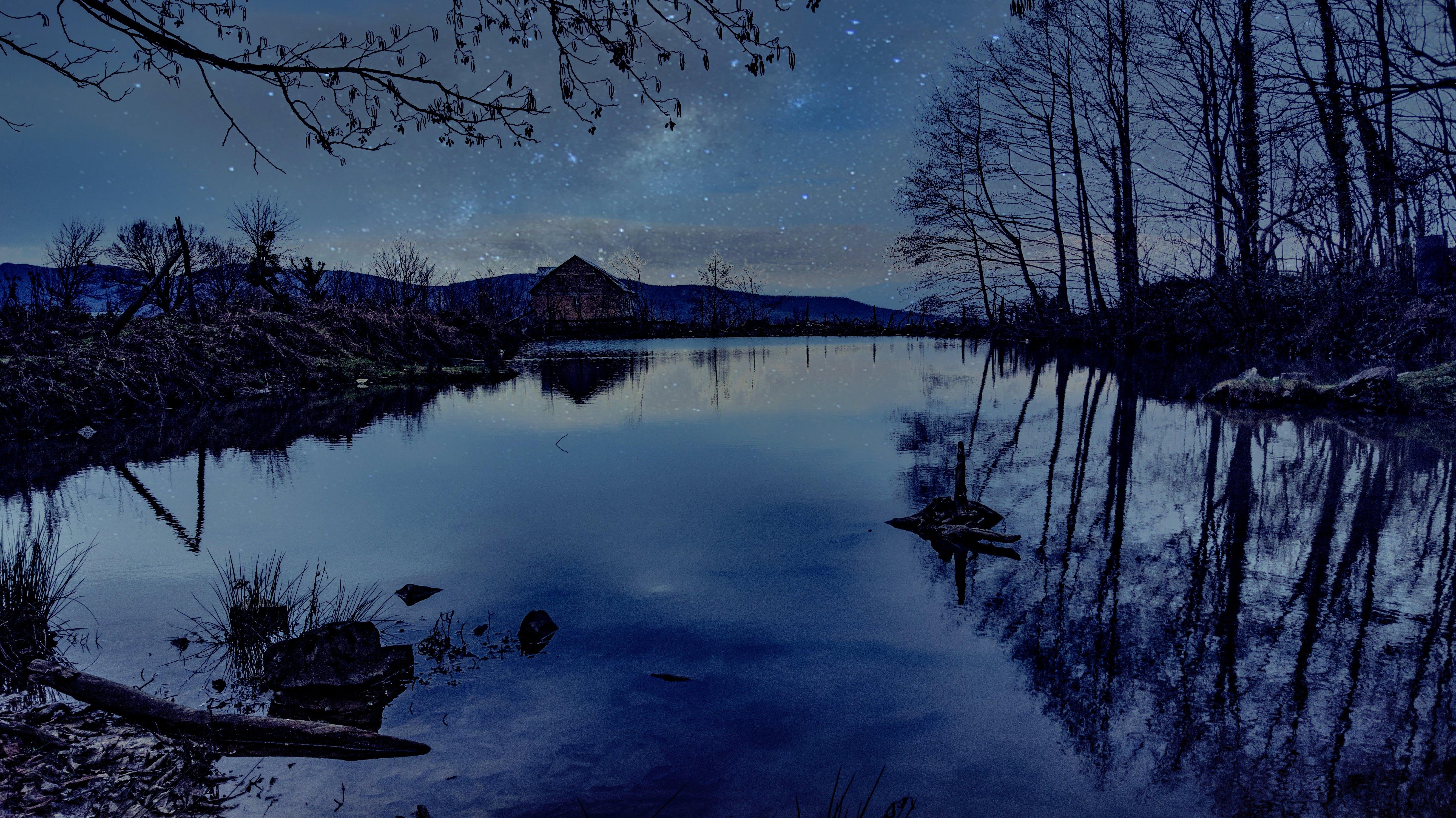Free stock photo of galaxy, lake, landscape, night sky
