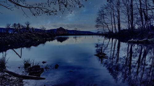 Free stock photo of galaxy, landscape, night sky, reflections