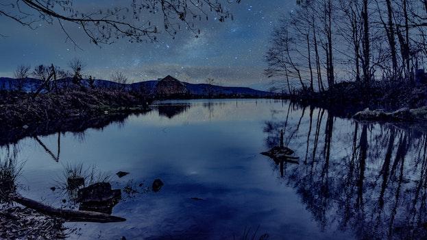 Free stock photo of landscape, lake, galaxy, universe