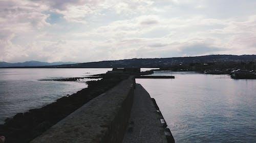 Photos gratuites de aube, barrage, bord de mer, ciel