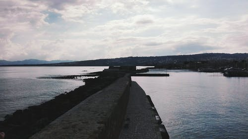Body of Water Near to Seawall
