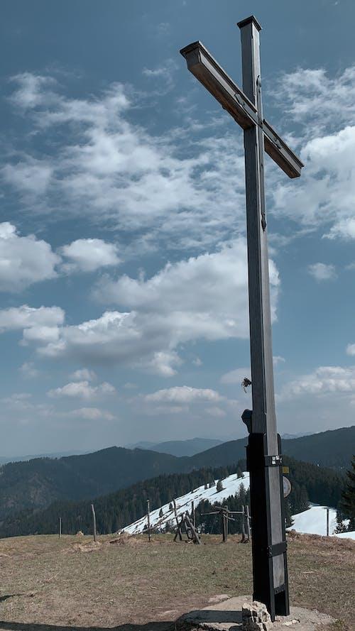 Free stock photo of blue sky, climb, cross