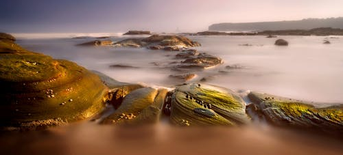 Green and Brown Water Waves