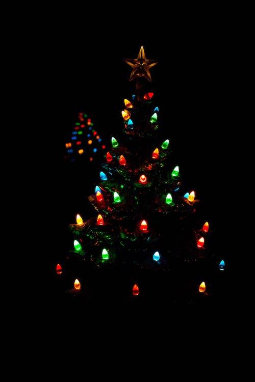 Δωρεάν στοκ φωτογραφιών με αργία, πολύχρωμος, φώτα δέντρων, Χριστουγεννιάτικα λαμπάκια