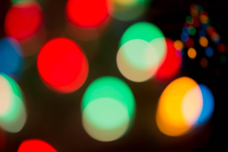 Free stock photo of bokeh, christmas lights, multicolored