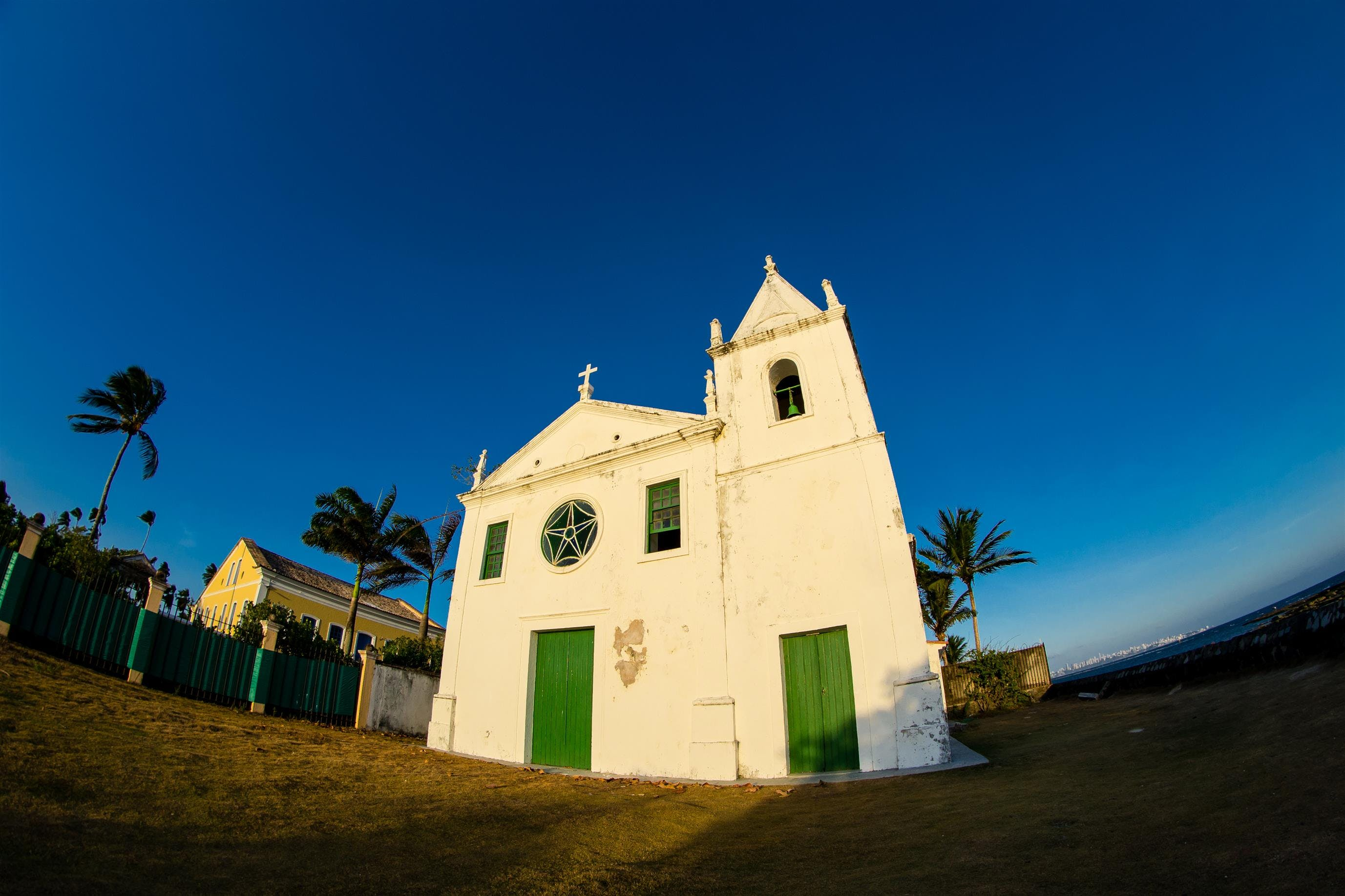 Free stock photo of architecture, bahia, blue sky, church