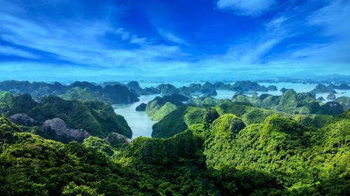 Free stock photo of beautiful background, beautiful view, green mountains