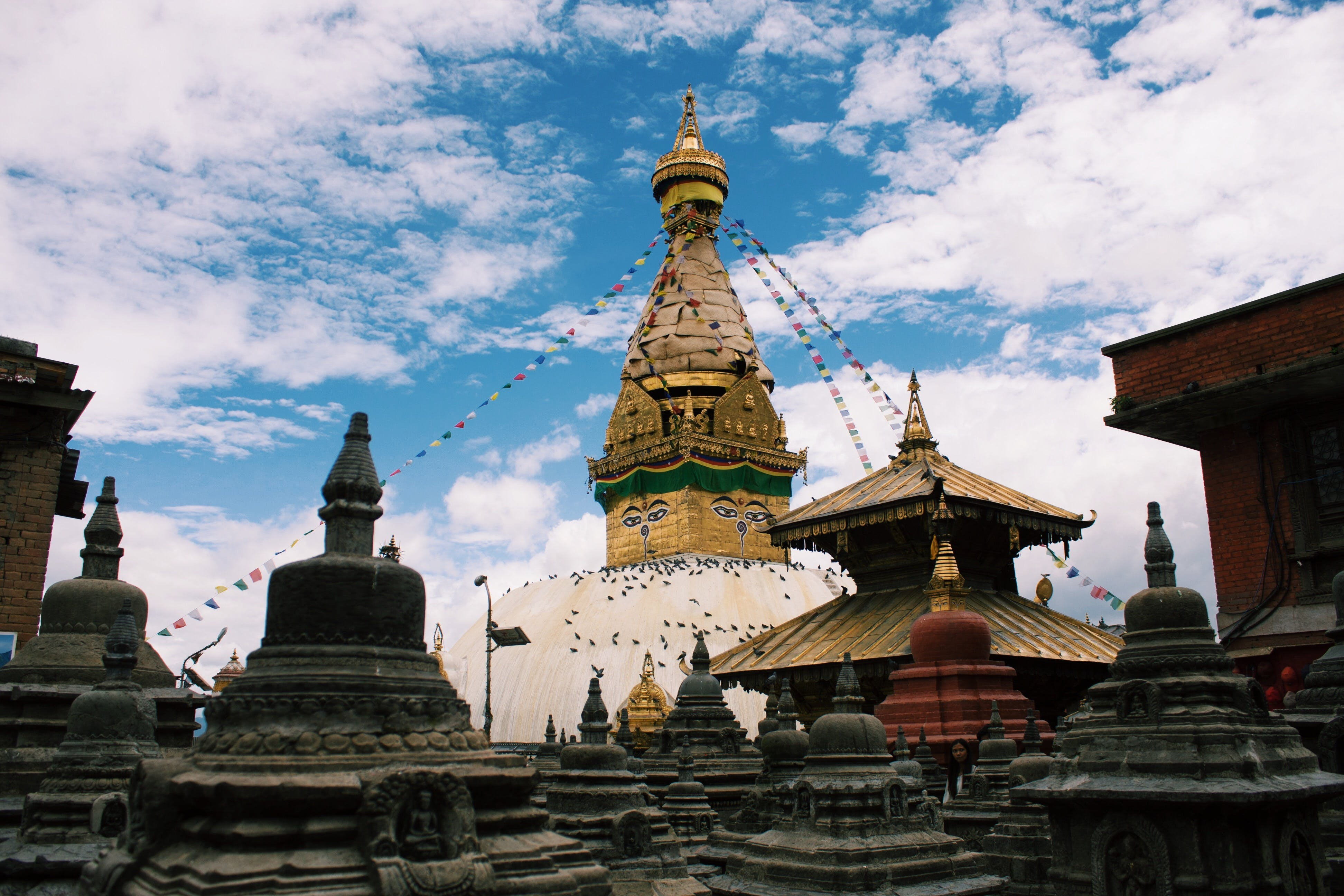 altın, antik, bina, budist tapınağı içeren Ücretsiz stok fotoğraf