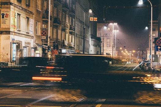 Free stock photo of cars, traffic, lights, street