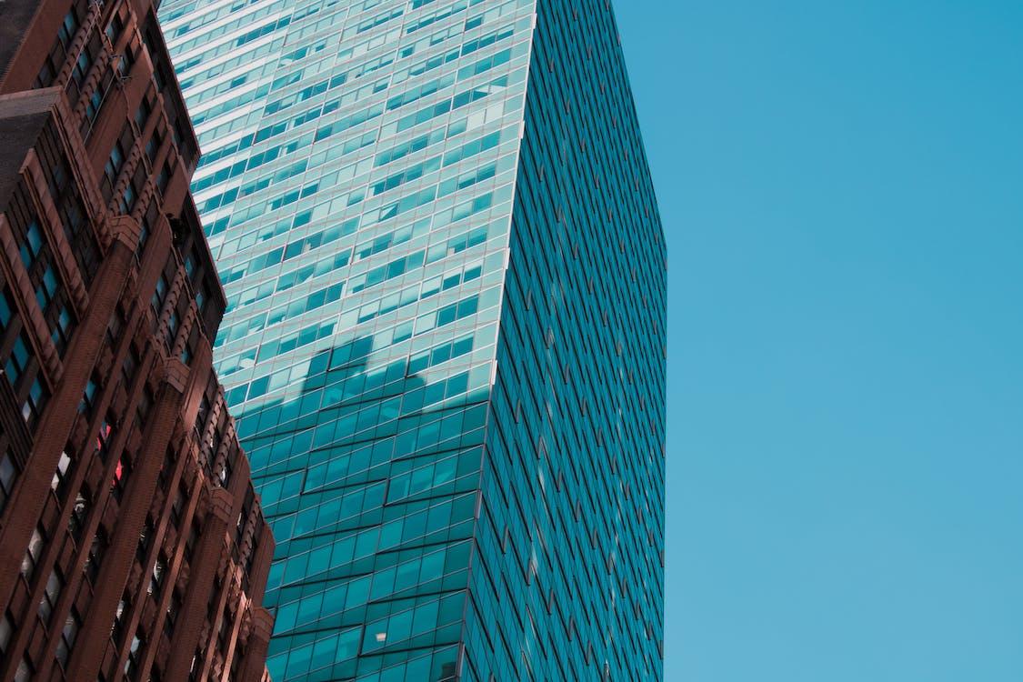 architektura, budynki, błękitne niebo