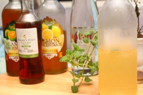 Free stock photo of calamansi, carbonated water, honey