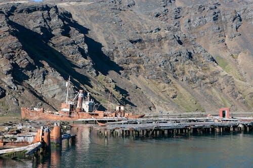 Free stock photo of abandoned, boat, grytviken