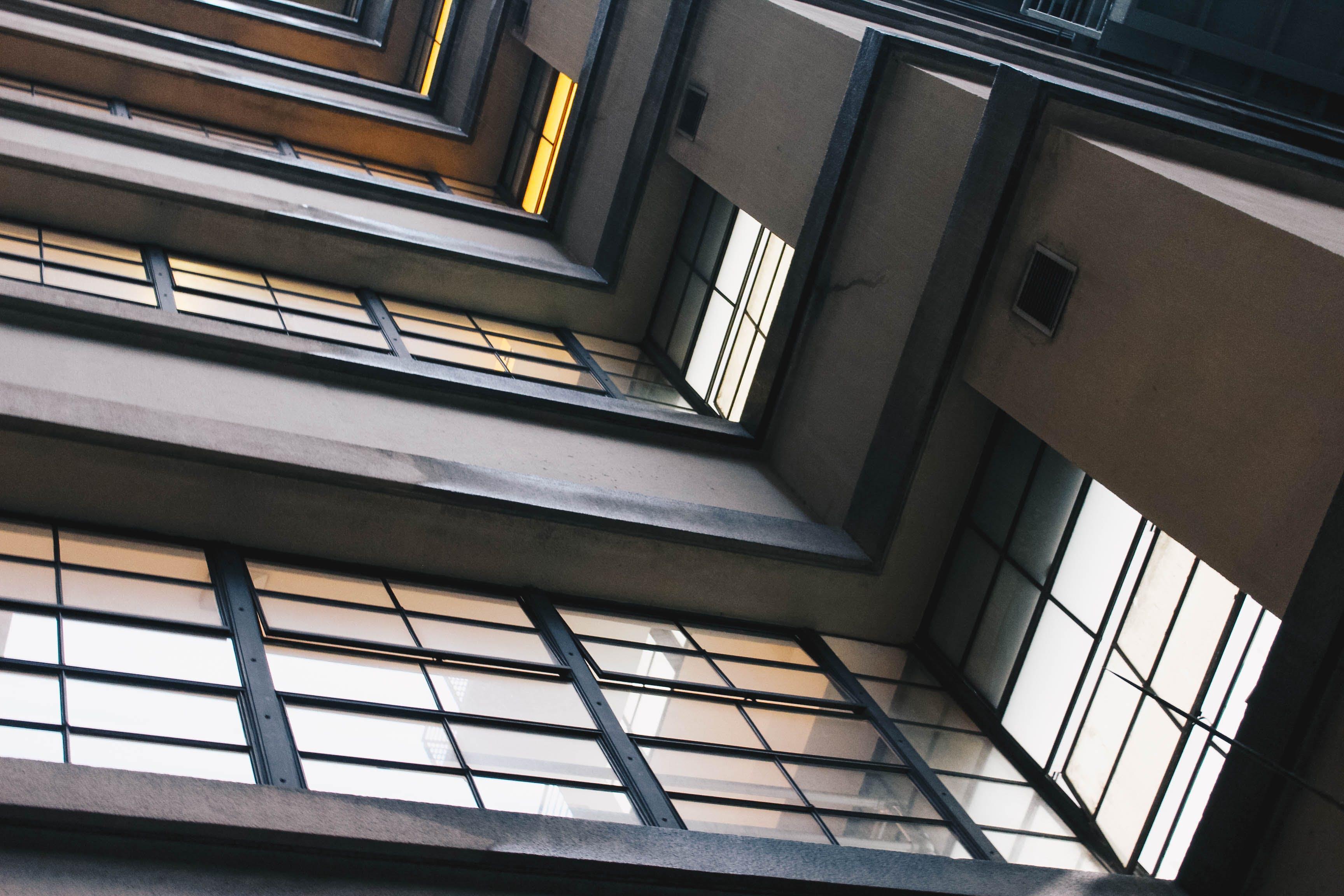 edifici, estampat, exterior d'un edifici
