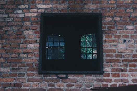 Square Black Window on Concrete Wall