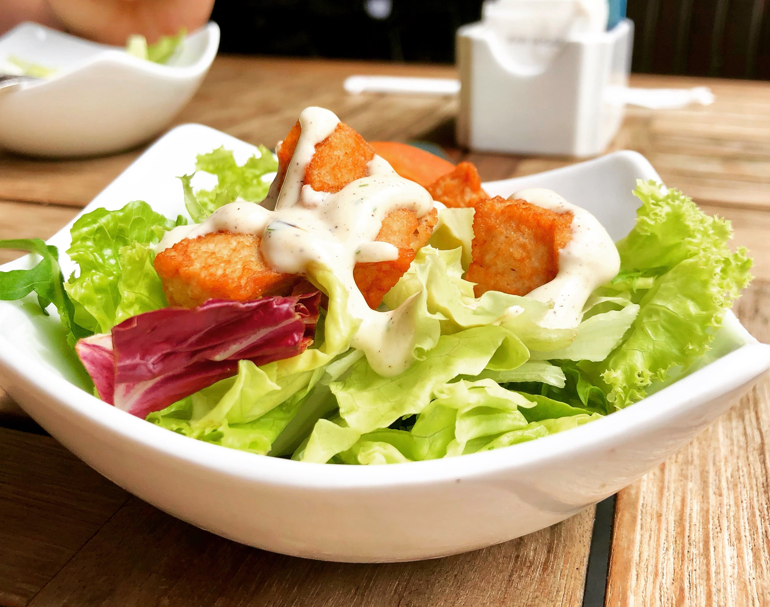 Vegetable Salad on Top of White Ceramic Plate