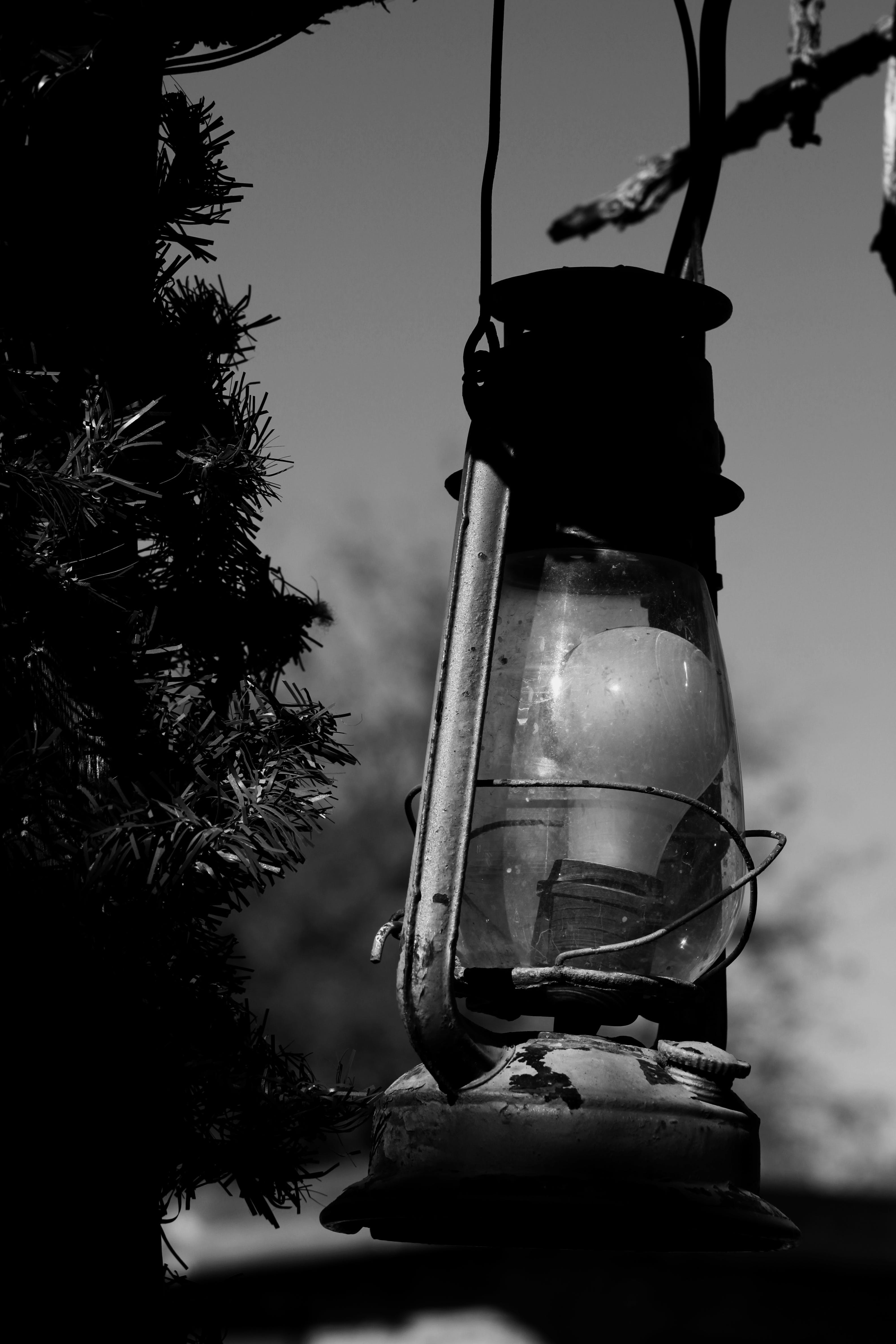 Free stock photo of black and white, gaslamp, wild west