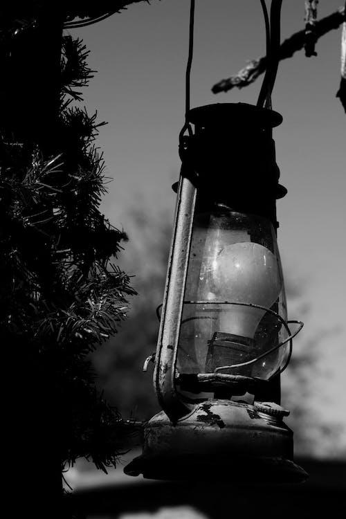 gaz lambası, siyah ve beyaz, vahşi batı