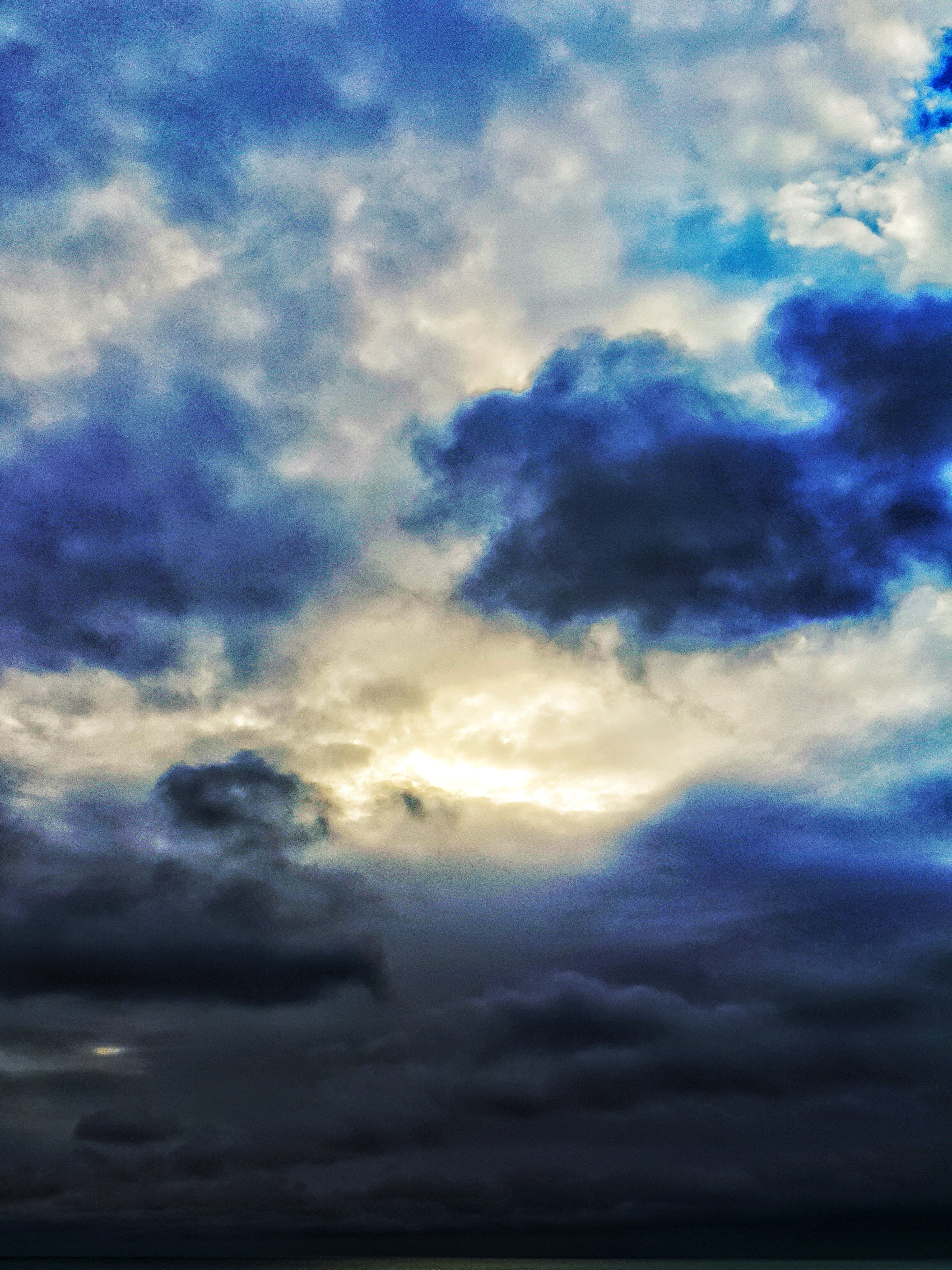 Free stock photo of blue sky, clouds, cloudy sky, contrast